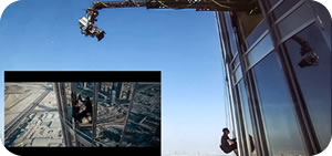 Technocrane in action during the filming of Mission Impossible 3